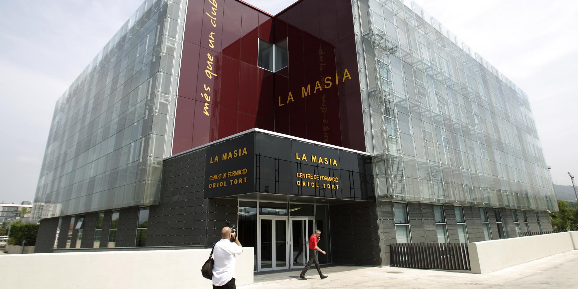 A view shows FC Barcelona's La Masia (Oriol Tort training center), near Barcelona