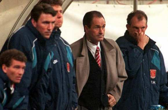 George Graham et son staff.