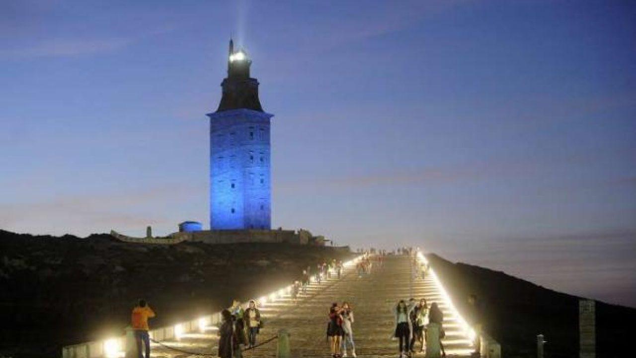 La Tour d'Hercule, le célèbre phare de La Corogne. Source : la Republica.
