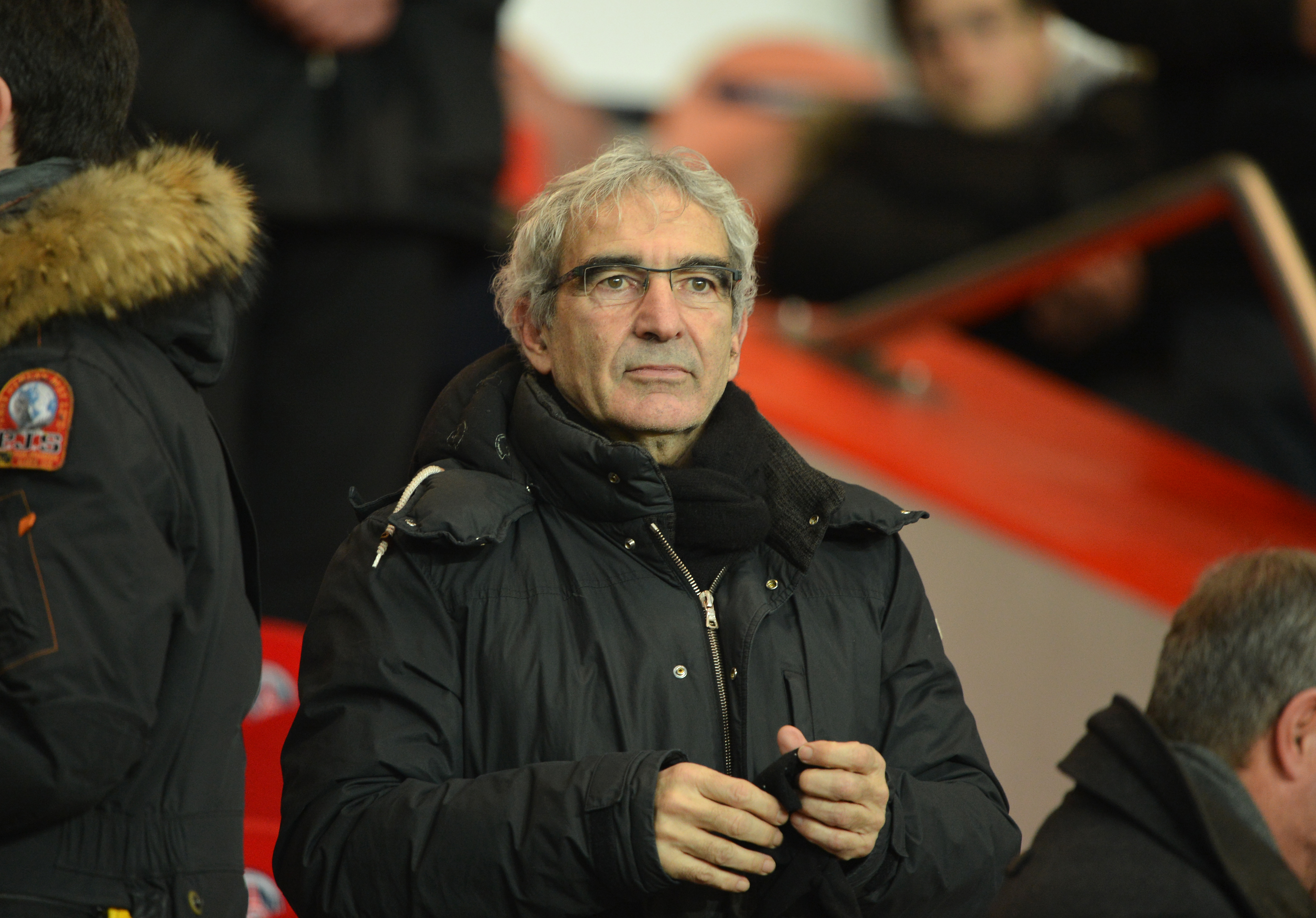 Former French national football team head coach Raymond Domenech attends the French L1 football match between Paris Saint Germain vs Lille on January 27, 2013 at the Parc-des-Princes stadium in Paris. AFP PHOTO / MIGUEL MEDINA        (Photo credit should read MIGUEL MEDINA/AFP/Getty Images)