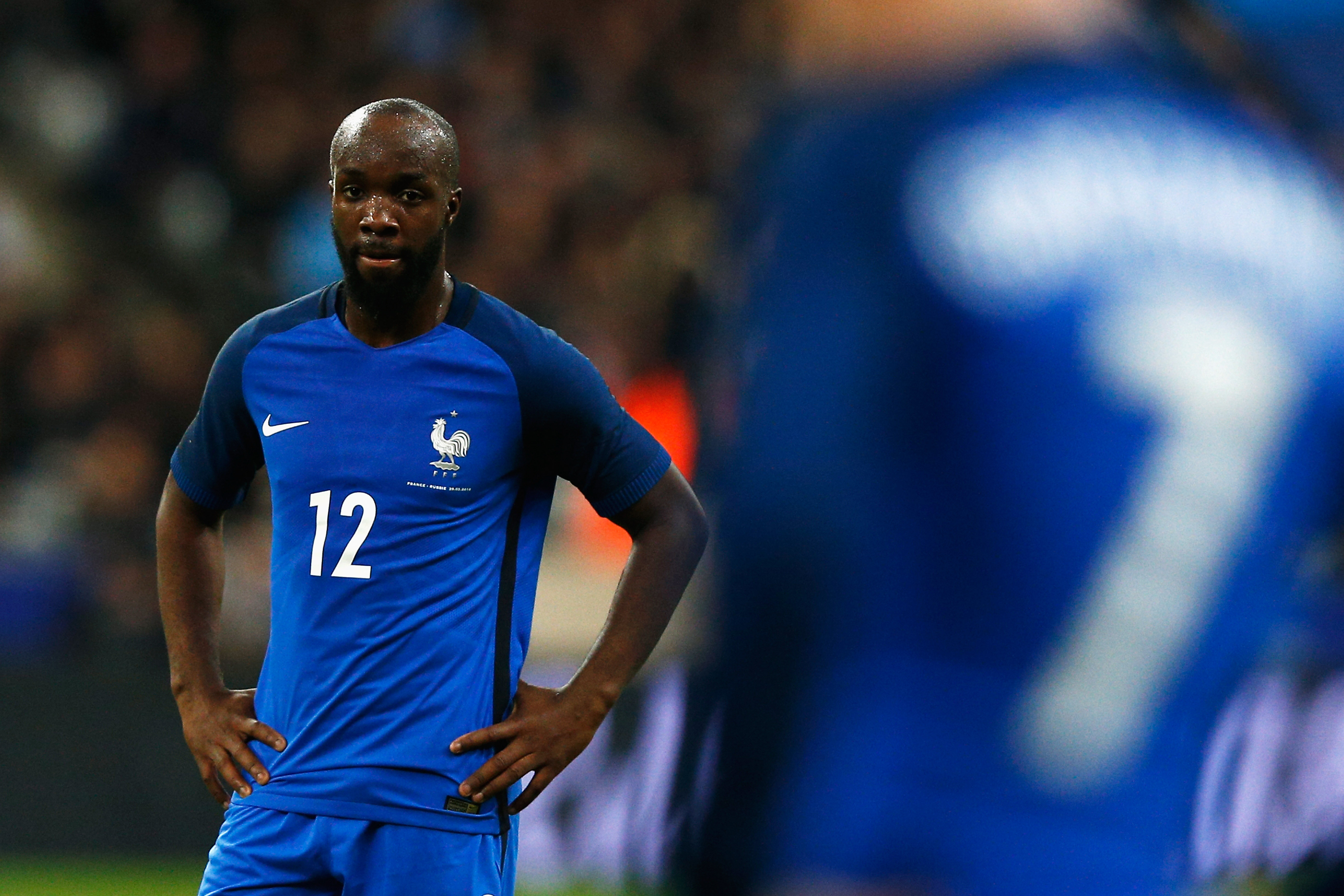 PARIS, FRANCE - MARCH 29:  Lassana Diarra of France looks on during the International Friendly match between France and Russia held at Stade de France on March 29, 2016 in Paris, France.  (Photo by Dean Mouhtaropoulos/Getty Images)